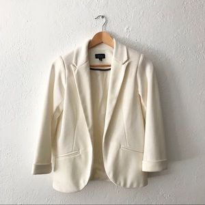 Topshop - Ponte jet pocket blazer off white